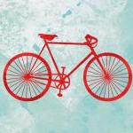 Bicycle print - 5 x 7 - modern art,..